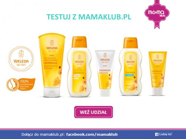 Testuj kosmetyki Weleda Baby z mamaklub.pl