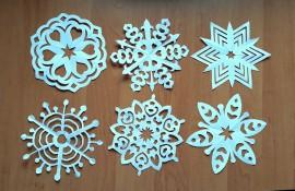 Śnieżynki - szablony do wydruku