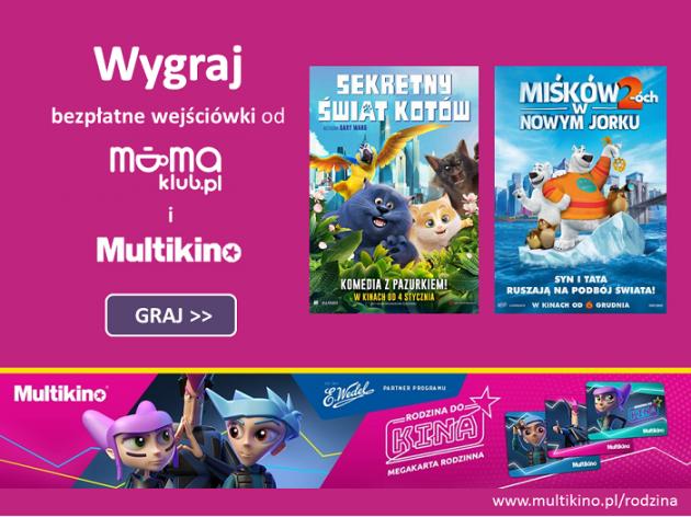 Co tydzień wejściówki do Multikina od mamaklub.pl