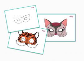 Maski karnawałowe - drukuj, ozdabiaj, baw się