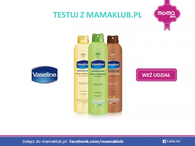Testuj kosmentyki Vaseline z mamaklub.pl