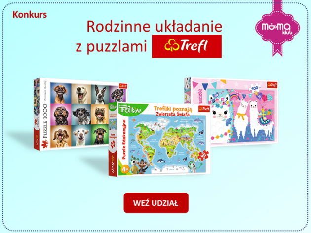 Rodzinne układanie z puzzlami Trefl