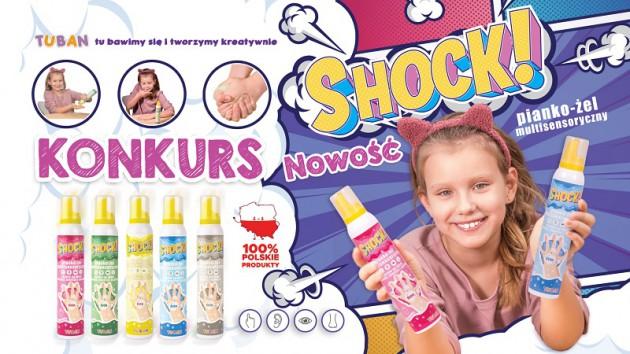 Testuj SHOCK! multisensoryczny pianko-żel - nowość marki TUBAN
