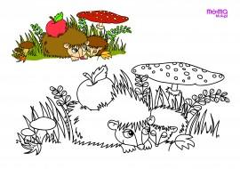 Jeżyki pod muchomorem